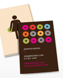 Business Card designs - Wedding DJ (f)