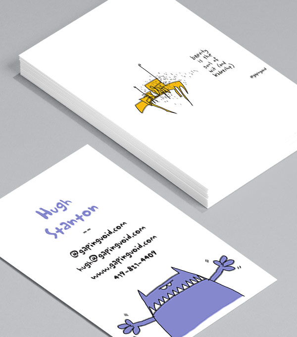 Browse business card design templates moo united states gapingvoid for entrepreneurs wajeb Images