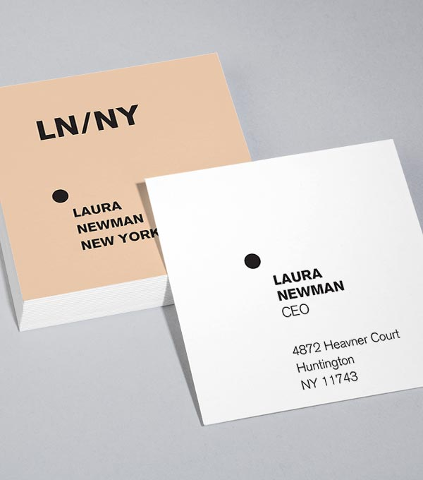 Square Business Card designs - Vital Stats