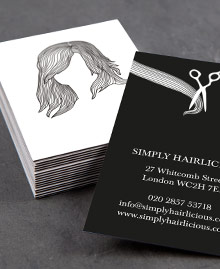 Business Card designs - Hairstyles White