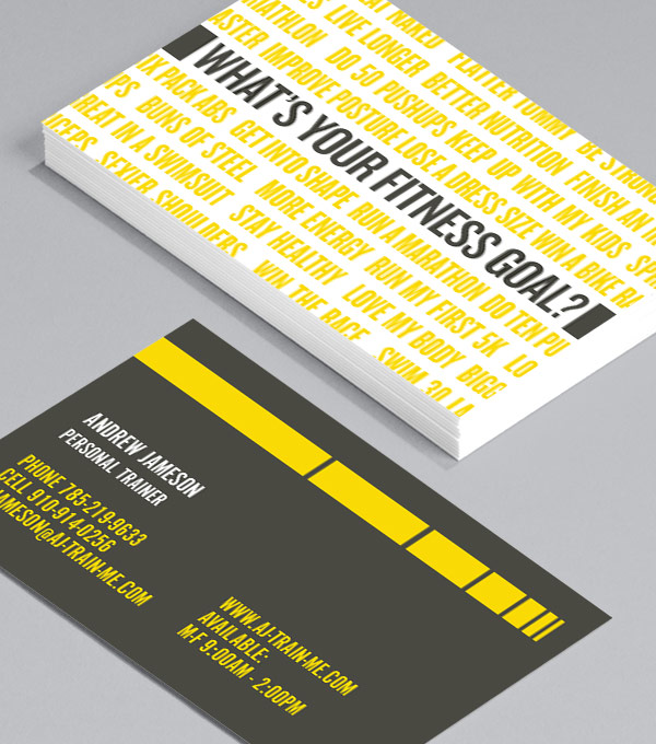 Business Card designs - What's Your Fitness Goal?
