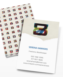 Preview image of Business Card design 'Flickering Digits'