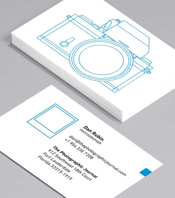 Business Card designs - Camera: positiv