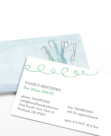 Preview image of Business Card design 'Minty Floss'