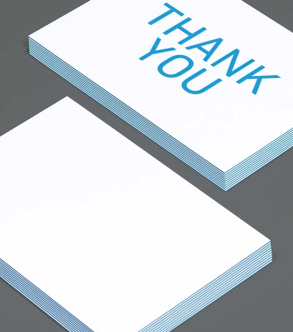 Notecard designs - Layer Cake Thank You
