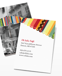 Preview image of Business Card design 'French Bistro'
