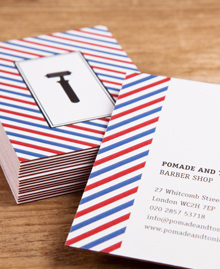 Preview image of Business Card design 'Barbershop Stripes'