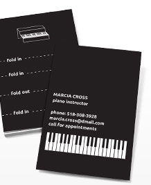 Business Card designs - Pocket Piano