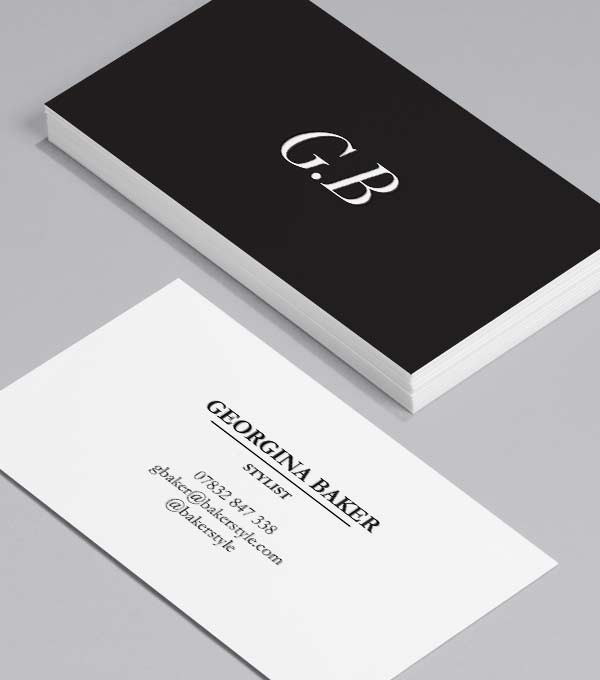 sharp contrast - Photo Business Cards