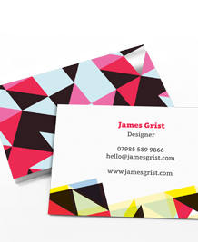 Business Card designs - Triangles