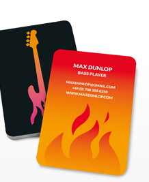 Preview image of Business Card design 'Bass on Fire'