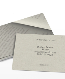 Preview image of Business Card design 'Read me like a book'