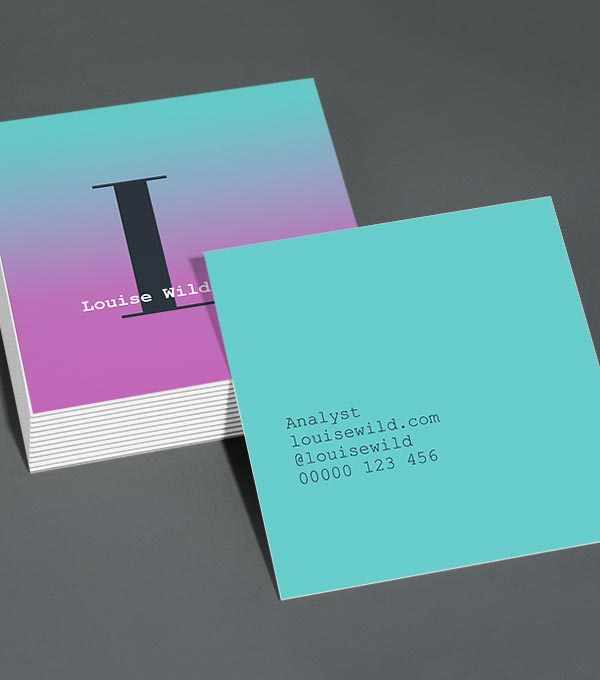Square Business Card designs - Ombre Town