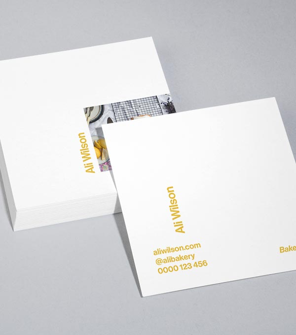 square business card designs side step