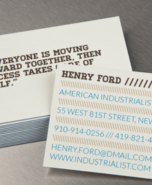 Business Card designs - Henry Ford