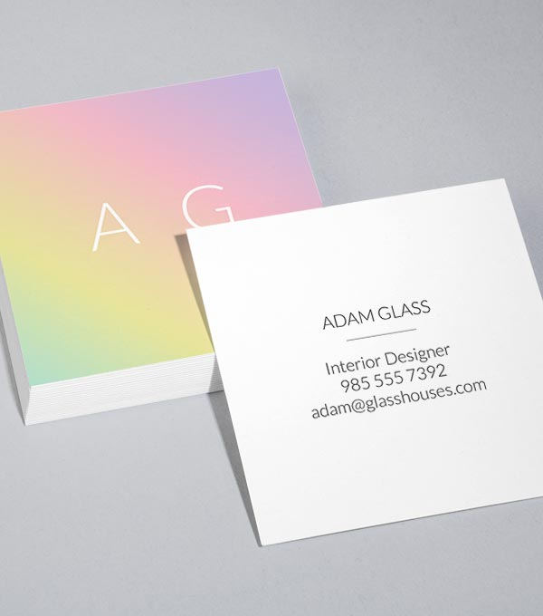 Browse Square Business Card Design Templates MOO United States - Square business card template
