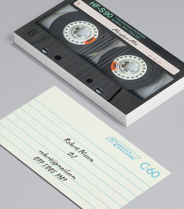 Business Card designs - I Made You A Mix Tape