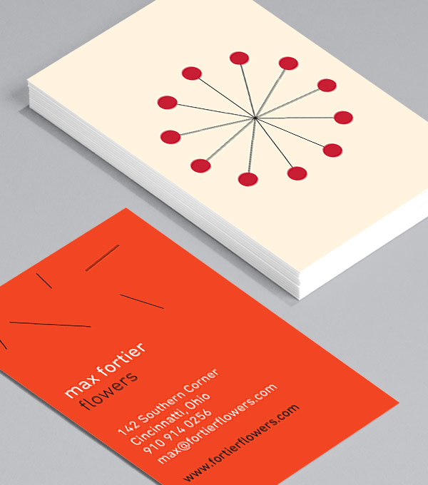 Business Card designs - Modern Florals