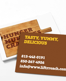 Preview image of Business Card design 'Yummy Tasty Delicious'