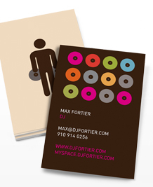 Business Card designs - Wedding DJ (m)