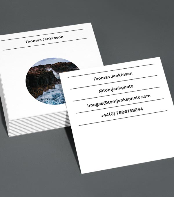 Square Business Card designs - Pick A Shape