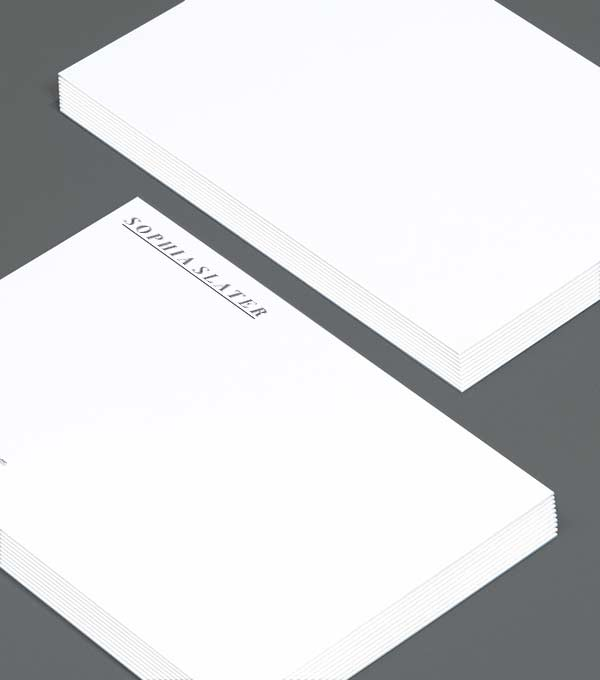 Notecard designs - Slater