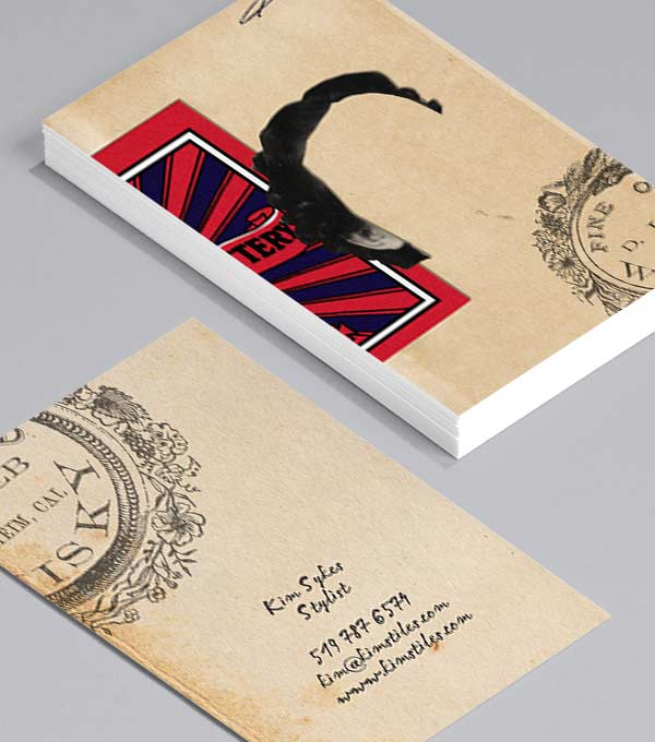 Business Card designs - Retro Hair