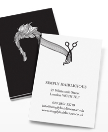 Business Card designs - Hairstyles Black