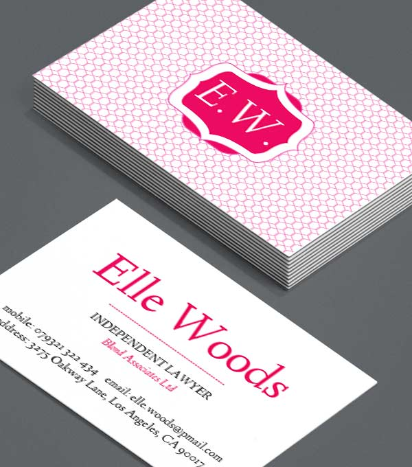 Business Card Designs Elle Woods