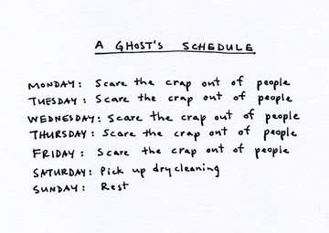 A Ghosts Schedule