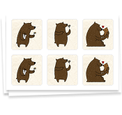 Frieda's Friendly Bears, StickerBook