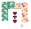 Hearts & Flowers, Wedding Cards