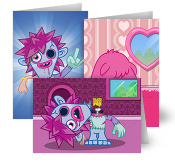 Moshi Monsters Greeting Card