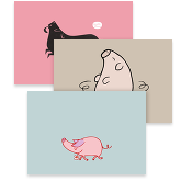 Perfect Pink Pigs, Postcards
