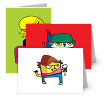 Jon Burgerman Greeting Cards