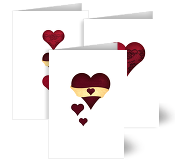 Love Heart Wedding Cards