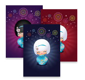 Kokeshi Cuties, Postcards