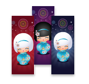Kokeshi Cuties, MiniCards