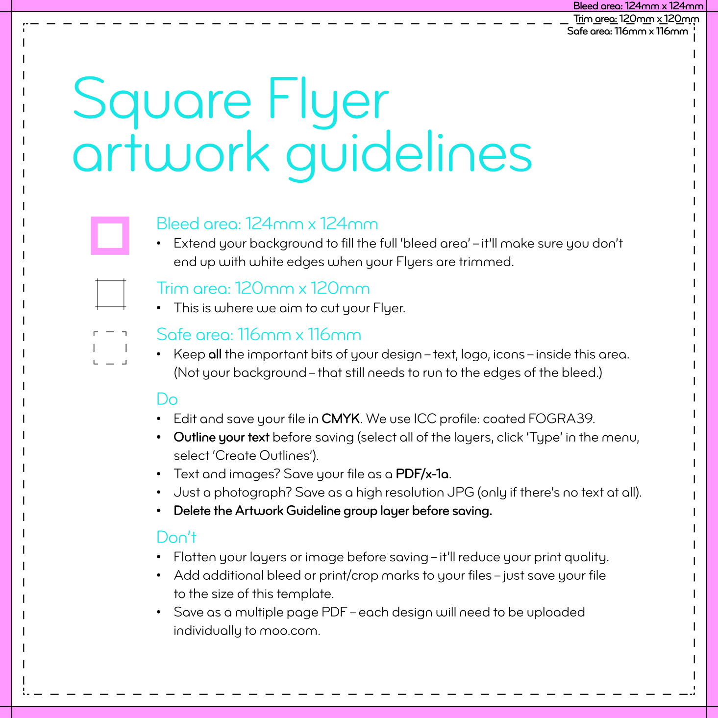 flyer outlines