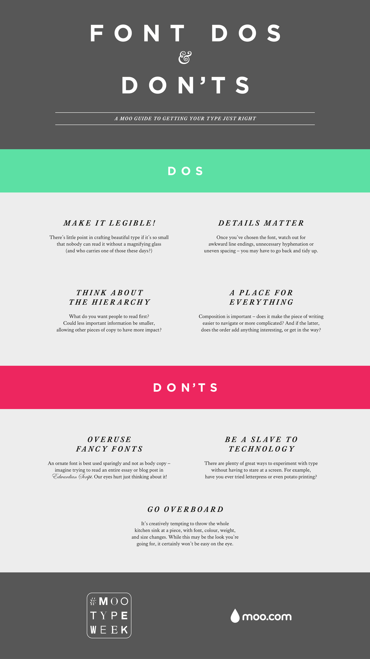business cards dos don ts by moo posabilities font dos don ts
